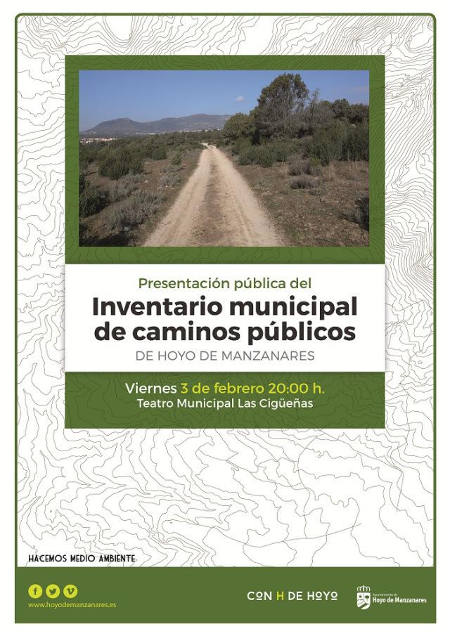 PRESENTACIÓN DEL INVENTARIO DE CAMINOS PÚBLICOS DE HOYO DE MANZANARES